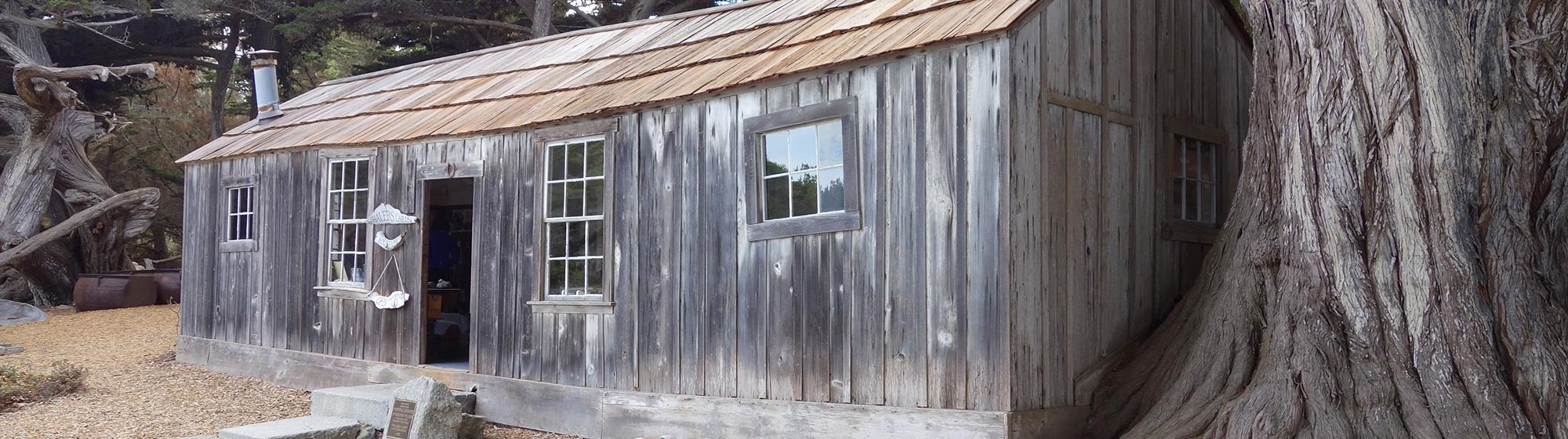 photo of the Whalers' Cabin at Point Lobos