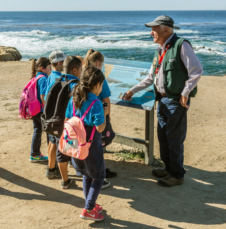 photo of students on a field trip at Point Lobos
